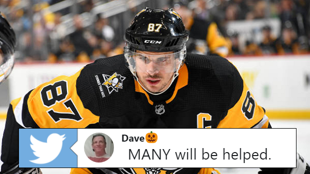 08430dc4bc3 Crosby s  StrongerThanHate jersey is already being auctioned off for an  incredible amount of money - Article - Bardown