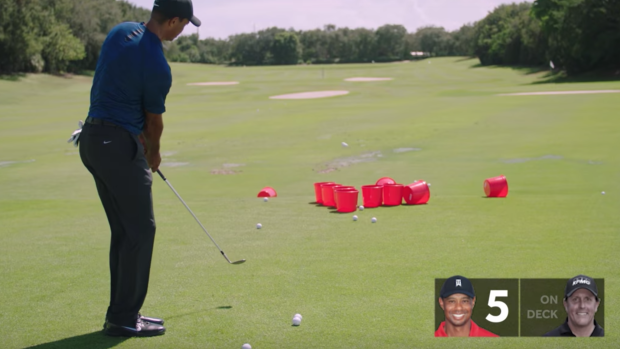 tiger woods and phil mickelson squared off in  u0026 39 golf pong