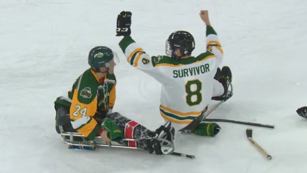 Paralyzed Humboldt Broncos return to ice for sledge hockey game - Article -  Bardown f7e966366