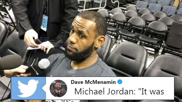 18b84a5f62d70 LeBron used one incredible word to describe the first time he met Michael  Jordan - Article - Bardown
