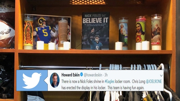 The Eagles Have A Nick Foles Shrine In Their Locker Room Article Bardown