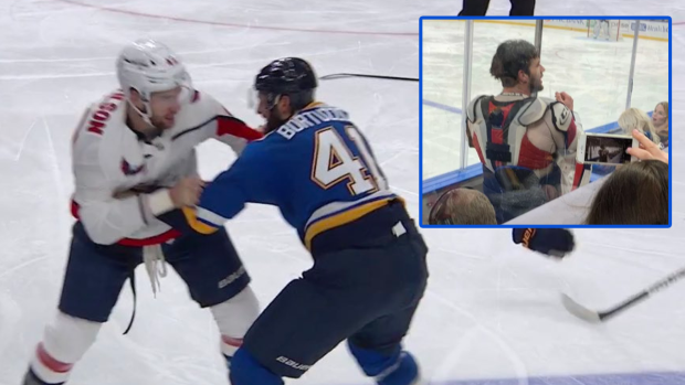 Tom Wilson Got Into A Nsfw Exchange With A Fan Following His Fight With Bortuzzo Article Bardown