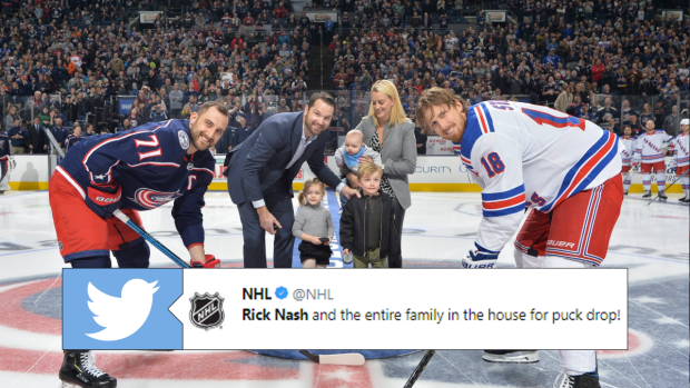 check out 2319e 3235e Rick Nash got the whole family involved for a special puck ...