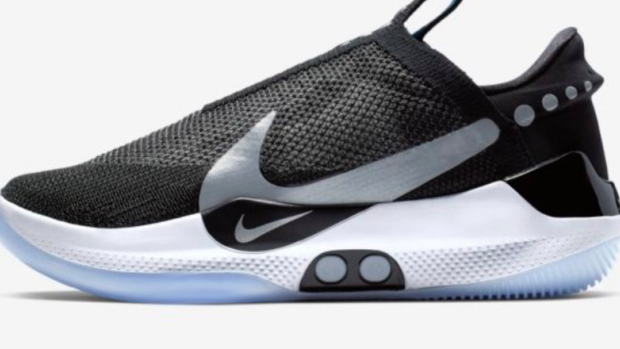first self-lacing basketball shoe