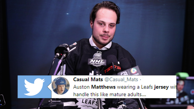 new concept f82fd 60ad9 A special addition to Auston Matthews' all-star jersey ...