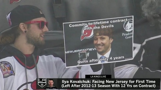 first rate 71cc7 122b1 NJ Devils fans spent the night making sure Ilya Kovalchuk ...