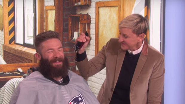 Julian Edelman Shaved Off His Big Beard For Charity And He
