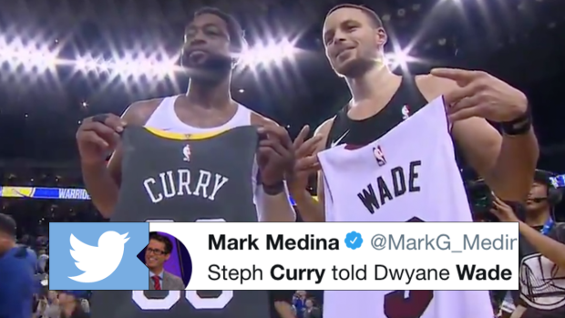 6d3f19a52 Wade and Curry swapped jerseys