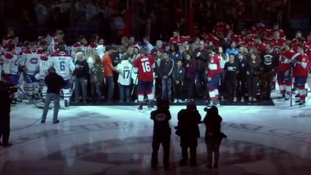Panthers Habs Joined The Families Of The Victims Of The Parkland