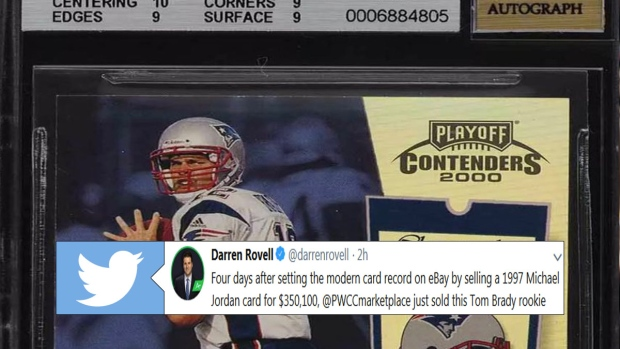 A Tom Brady Rookie Card Just Shattered The Record For Most