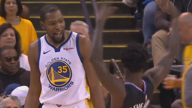 a497b1d246bb Patrick Beverley got into Kevin Durant s face and started mocking ...