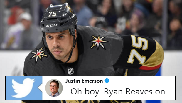 e30f5b47 Ryan Reaves absolutely ROASTED Joe Thornton after his comments ...