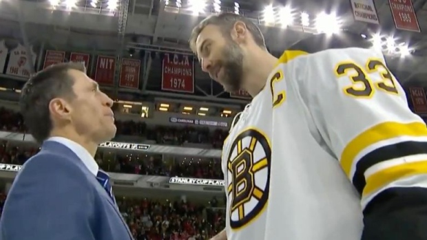 Zdeno Chara and Rod Brind'Amour