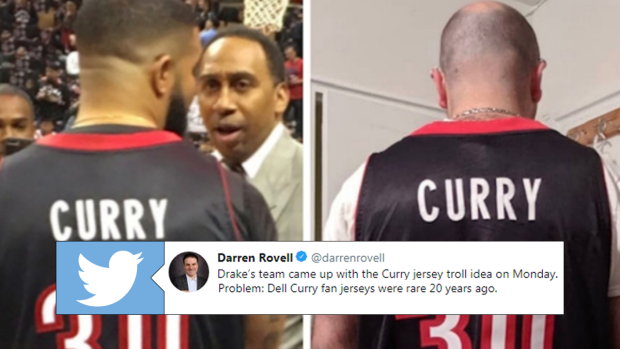 check out 5859c 862c4 The full story of how Drake got the Dell Curry jersey is ...