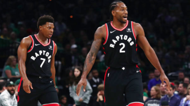 """online retailer 1756b 59dbe Raptors fans were given custom Kawhi """"King of the North ..."""
