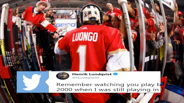 Henrik Lundvist Shows Roberto Luongo Some Love Following His