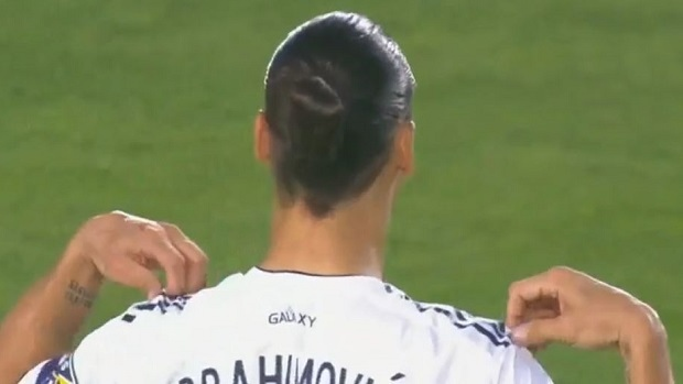 save off d4c49 aba4f LA Galaxy misspell Zlatan Ibrahimovic's name on his jersey ...