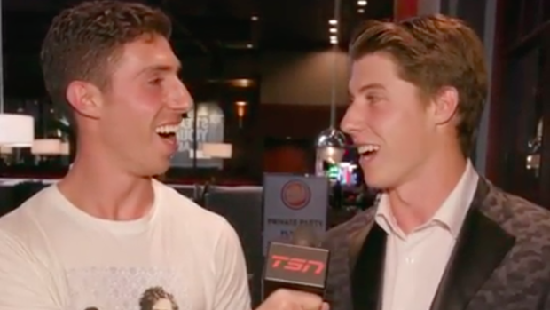 Jesse Pollock and Mitch Marner