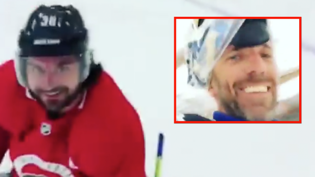Lundqvist Reunited With Zuccarello To Do The Breakawaychallenge As