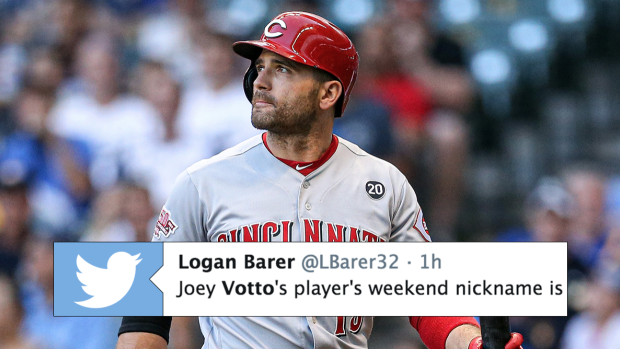 new concept 67717 88e4a Joey Votto has the greatest nickname for Players' Weekend ...