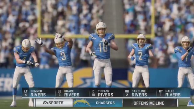 Someone Actually Made An Offence In Madden With Philip Rivers His Wife And All Of His Kids Article Bardown