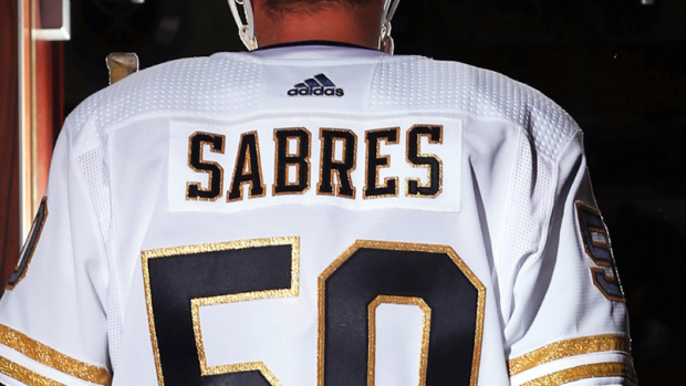 outlet store c6c4d 44194 The Sabres officially unveiled their golden 50th anniversary ...
