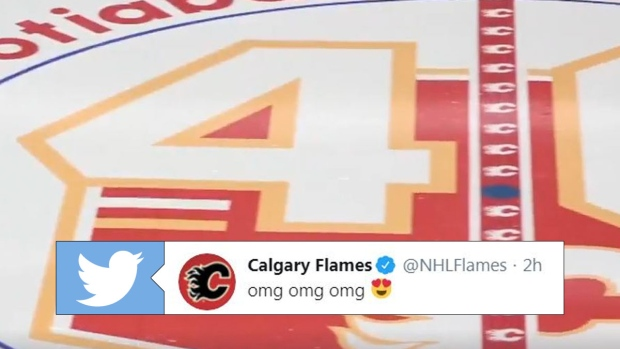 Calgary Flames Reveal 40th Season Logo That Will Sit At Centre Ice For The 2019 20 Campaign Article Bardown