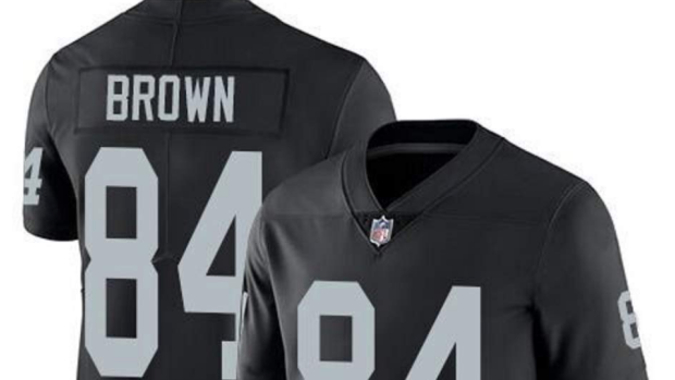 the latest 63775 a1764 Raiders fans salvaged their Antonio Brown jerseys with a ...