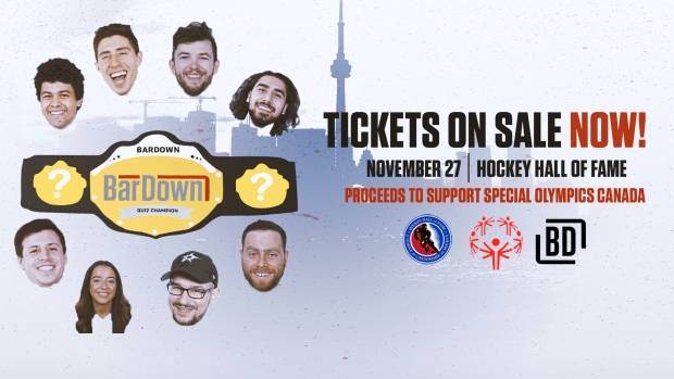 The BarDown team will be hosting a Live Quiz at the Hockey Hall of Fame on November 27.