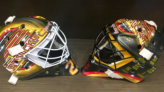 The Canucks' goalies have some beautiful masks to match their throwbacks - Article - BARDOWN