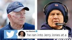 Jerry Jones (left), Bill Belichick (right).
