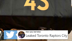 A leaked Raptors City Edition jersey is circulating on Twitter.