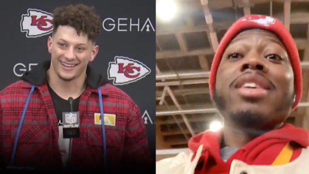 Patrick Mahomes and Chiefs Fan
