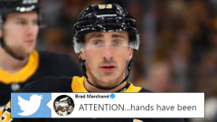 Boston Bruins forward Brad Marchand.
