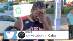 Kawhi Leonard rocked an interesting jersey in Cabo...