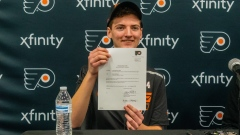 Blake Steigauf signs Flyers contract