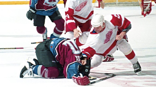 Darren McCarty and Claude Lemieux