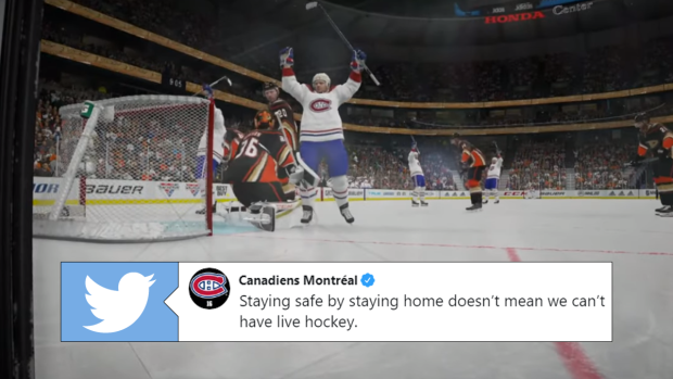 The Montreal Canadiens Live Streamed Their Scheduled Game Against The Anaheim Ducks On Nhl 20 Article Bardown