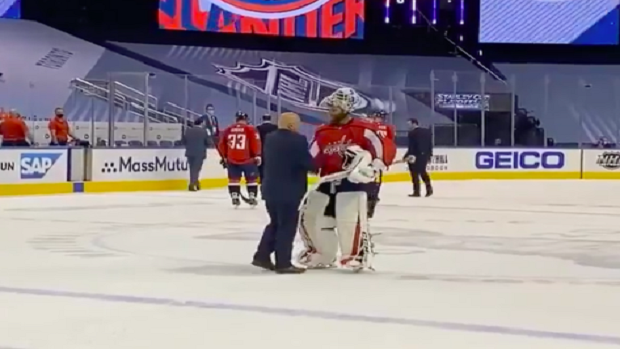 Barry Trotz Shared A Special Moment With Braden Holtby After The Series Article Bardown