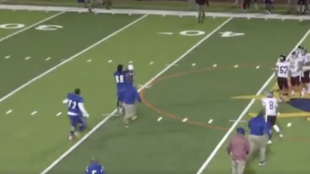High school football player body slams referee and gets escorted out by police