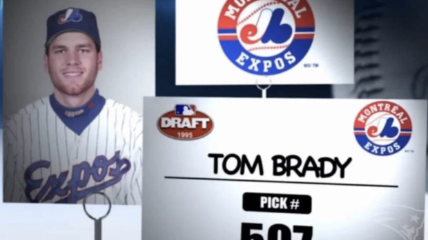 Tom Brady was drafted by the Montreal Expos in the 1995 MLB Draft ...