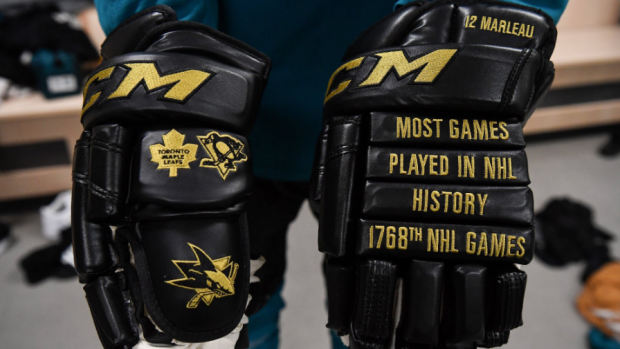 Patrick Marleau's custom gloves