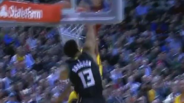 bucks rookie throws down massive slam dunk over lebron james