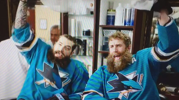 Brent Burns and Joe Thornton