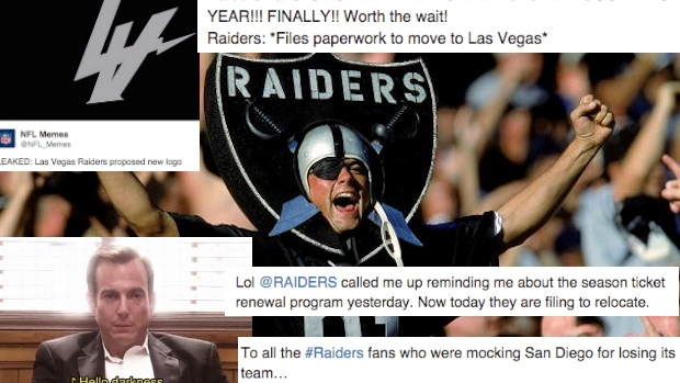 The Good The Bad And The Ugly Reactions To The Raiders Filing To Relocate To Las Vegas Article Bardown