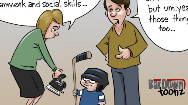 Funny New Comic Shows Reasons Why Parents Want Their Kids To Play Hockey Article Bardown