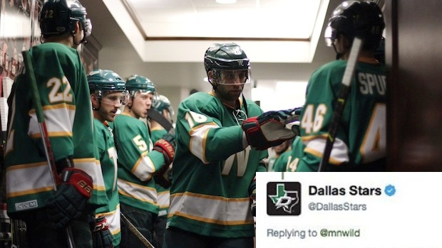 new arrival b2630 b53f1 Dallas Stars have some comments on the Wild's North Stars ...