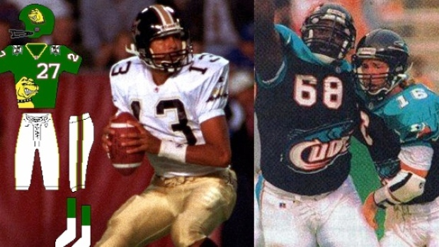 A Look Back At The Cfl S American Expansion Team Jerseys Article