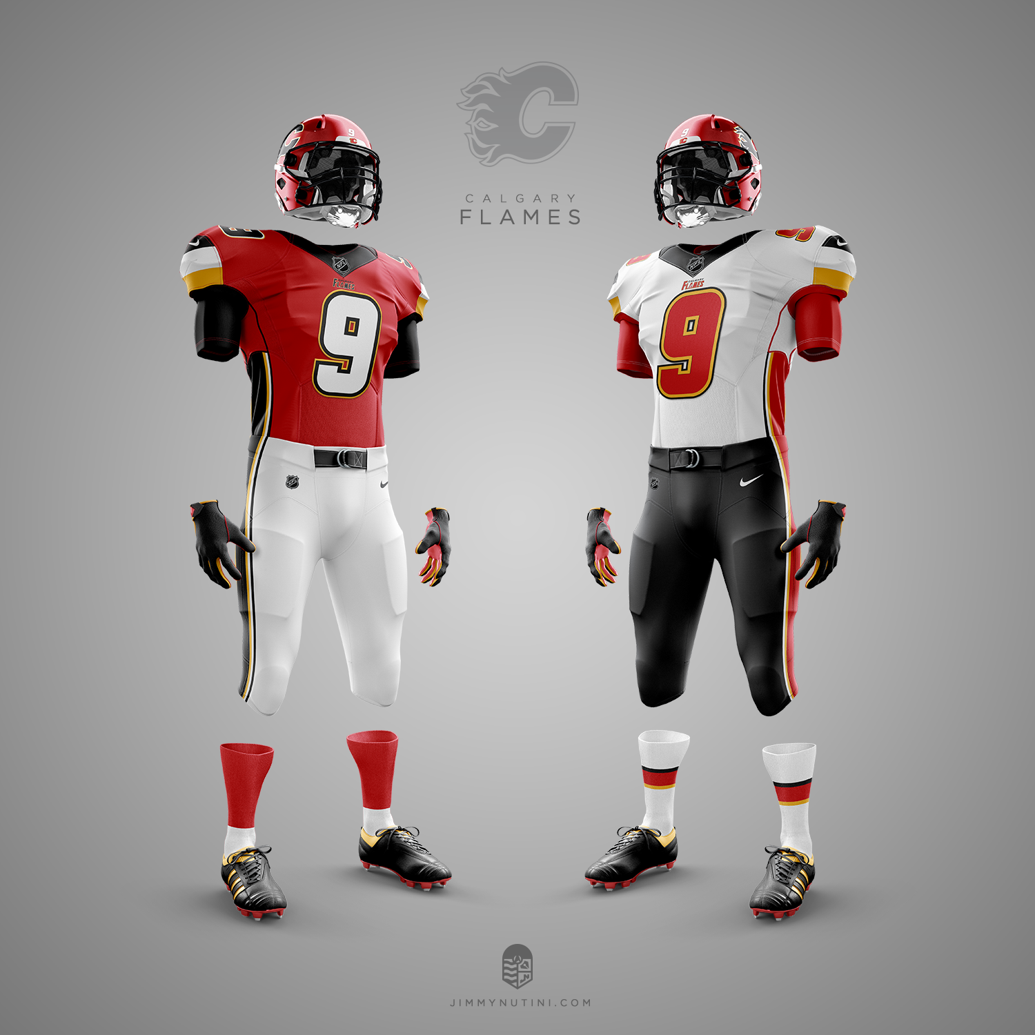 separation shoes 762a4 922c3 These NHL team football concept uniforms are incredibly well ...