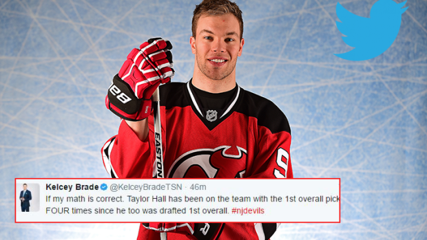 Taylor Hall Had The Best Tweet Of The Night After The Devils Won The Nhl Draft Lottery Article Bardown